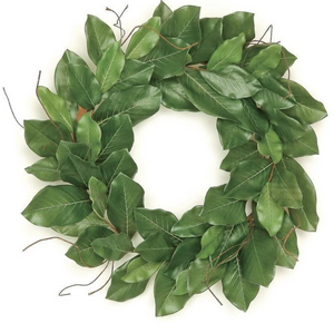 "26"" Artificial Magnolia Leaf Wreath - Florals and Foliage"