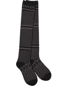 World's Softest Socks: Gallery Knee High Black Socks