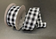 "Load image into Gallery viewer, Everyday Patterned Linen Ribbon- 2.5"" x 10 yards"