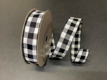 "Load image into Gallery viewer, Everyday Patterned Linen Ribbon- 1.5"" x 50 yards"