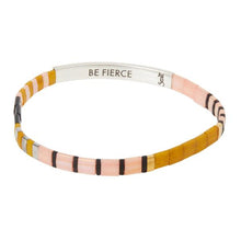 Load image into Gallery viewer, Scout Good Karma Miyuki Bracelet | Be Fierce - Pink/Mustard/Silver