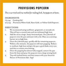 Load image into Gallery viewer, Provisions Popcorn White Gold 675g