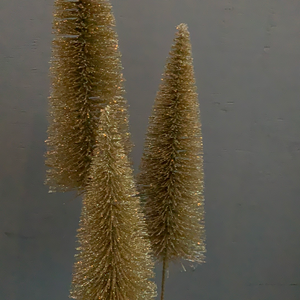 "40"" Large Gold Bottle Brush Tree - Holiday Decor"