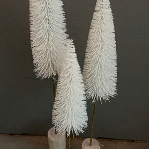"36"" Medium White Bottle Brush Tree - Holiday Decor"