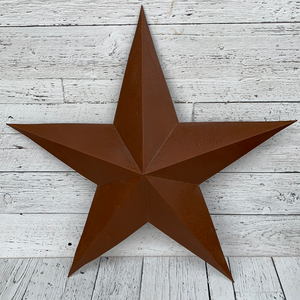 "24"" Rusty Tin 3D Star - Holiday Decor"