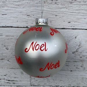 Noel  - Glass Holiday Ornament