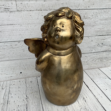 "Load image into Gallery viewer, 15"" Gold Angel - Holiday Decor"