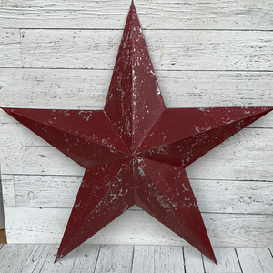"30"" Dist. Red 3D Star - Holiday Decor"