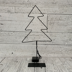 "16"" LED Tree on Base w Timer - Holiday Tabletop"