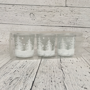 Tree Votive Holder Set of 3 - Holiday Tabletop