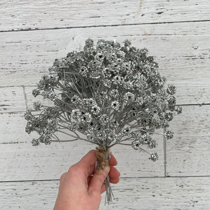 "10"" Silver Flower Bundle - Holiday Pick"