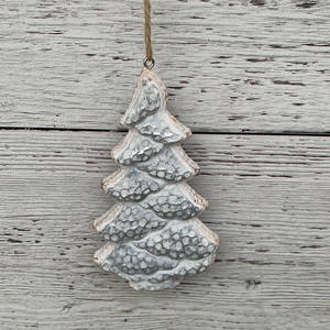 Snowflake and Tree Ornament