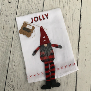 Jolly Dangle Leg Gnome Towel - Holiday Textiles