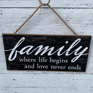 "15"" MDF Family Sign - Everyday Clearance"