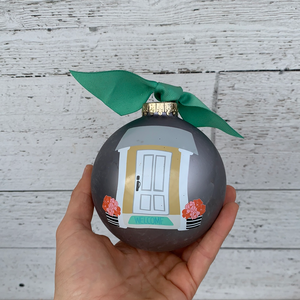 Home Sweet Home - Glass Holiday Ornament