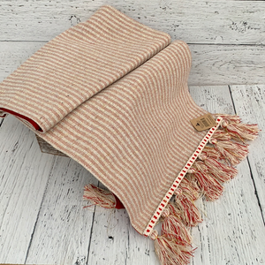 Table Runner Stripe w Tassels - Holiday Textiles