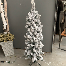 "Load image into Gallery viewer, 4'X15""Fk Tower Tree X196 clear lights - Christmas Tree"