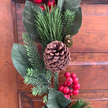 Load image into Gallery viewer, 6' Berry Pine Cone Garland - Holiday Garland