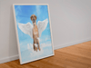 Angel Dog Custom Framed Portrait - My Pup Art