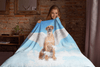 Angel Dog Portrait Custom Blanket  (U.S. Only) - My Pup Art