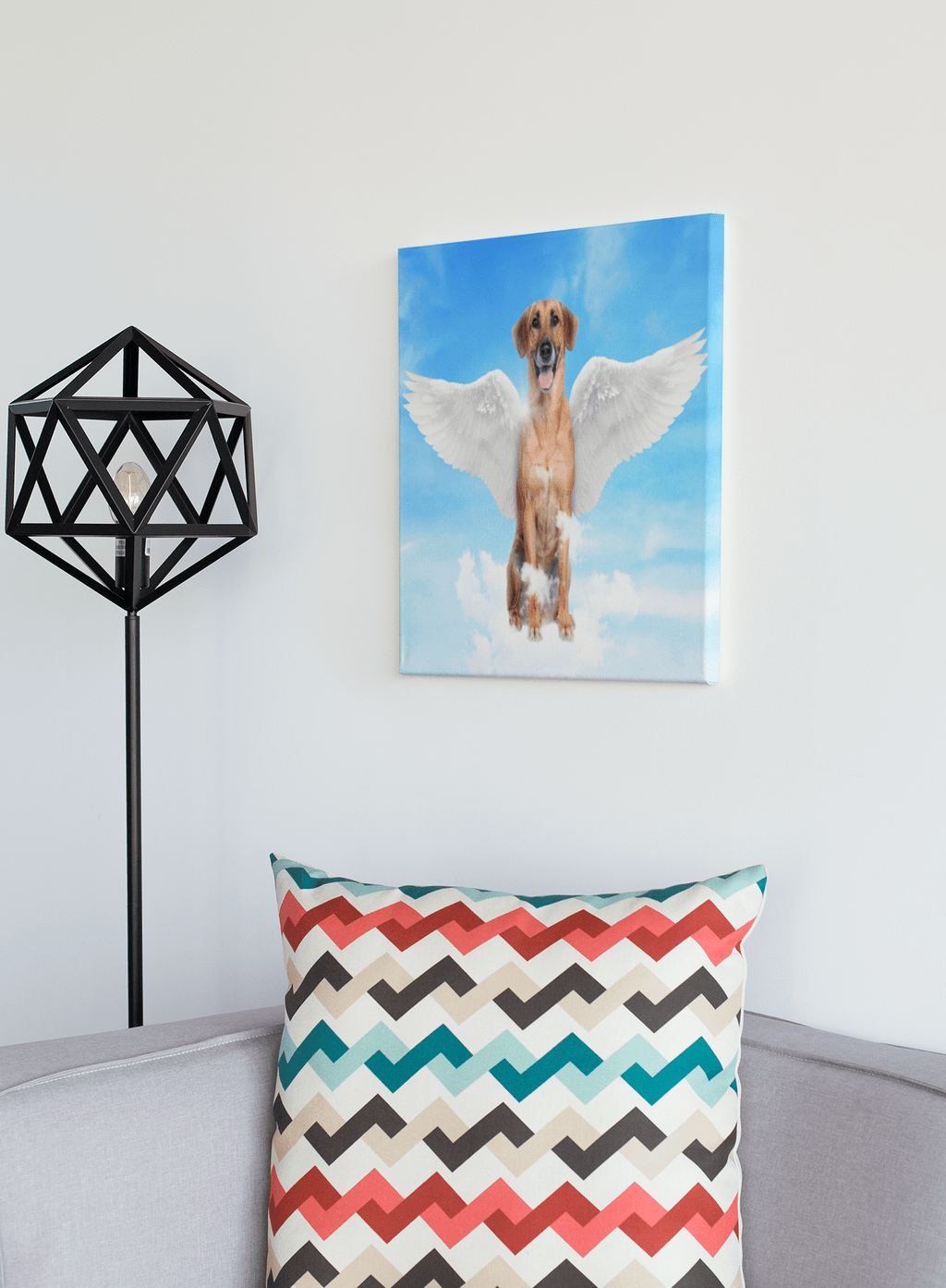 Angel Dog Portrait Custom Canvas - My Pup Art