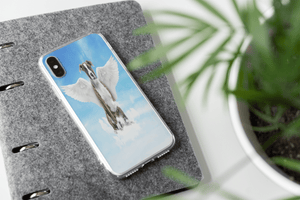 Angel Dog Portrait Custom iPhone Case - My Pup Art