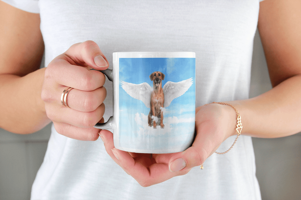 Angel Dog Portrait Custom Mug - My Pup Art