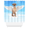 Angel Dog Portrait Custom Shower Curtain (U.S. Only) - My Pup Art