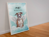 Angel Dog Watercolor Custom Framed Portrait - My Pup Art