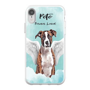 Angel Dog Watercolor Portrait Custom iPhone Case - My Pup Art