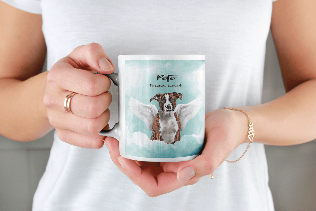 Angel Dog Watercolor Portrait Custom Mug - My Pup Art