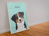 Illustrated Dog Custom Framed Portrait - My Pup Art