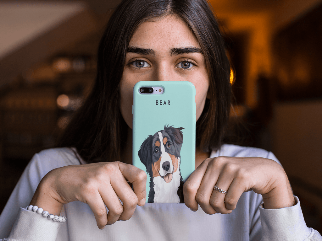 Illustrated Dog Portrait Custom iPhone Case - My Pup Art