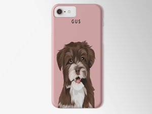 Illustrated Dog Portrait Custom Samsung Phone Case - My Pup Art