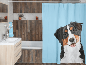 Illustrated Dog Portrait Custom Shower Curtain (U.S. Only) - My Pup Art