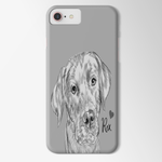 Sketch Dog Portrait Custom iPhone Case - My Pup Art