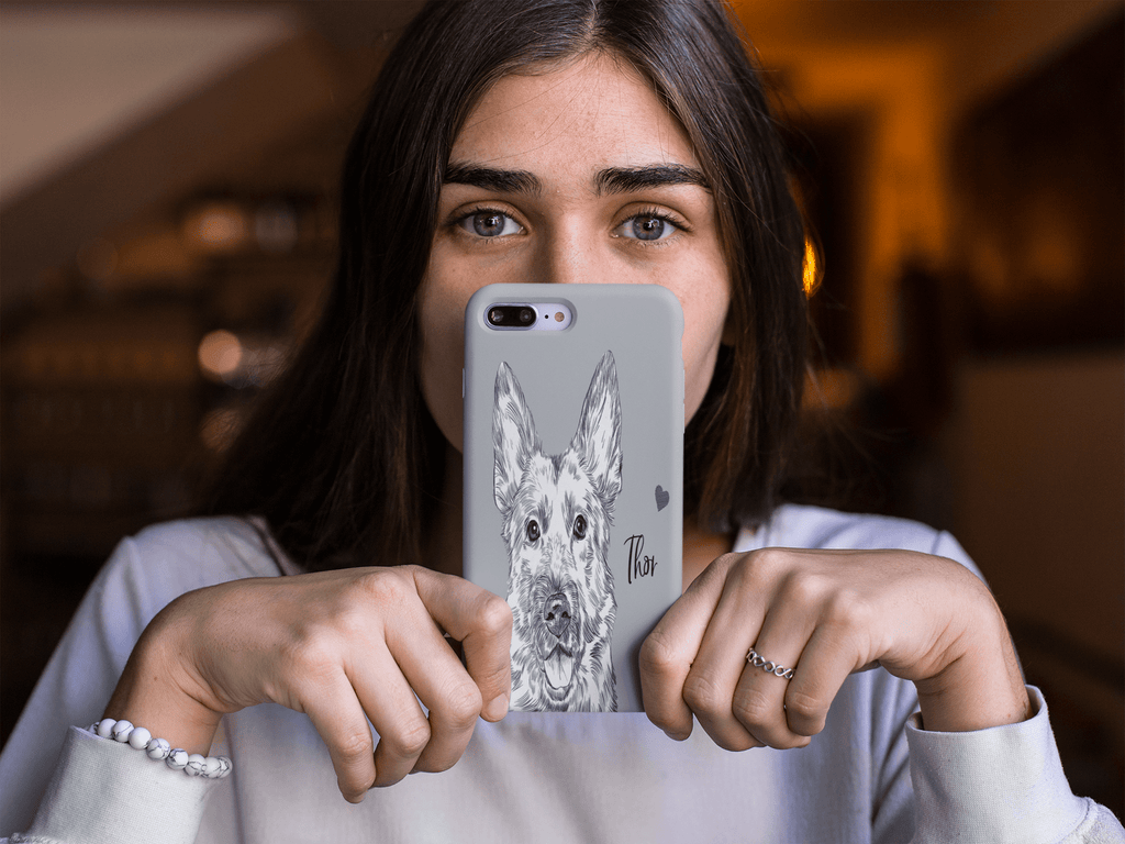 Sketch Dog Portrait Custom Samsung Phone Case - My Pup Art