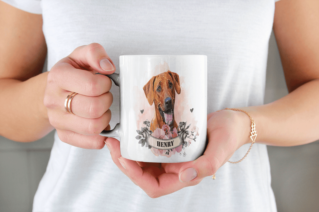 Watercolor Dog Portrait Custom Mug - My Pup Art