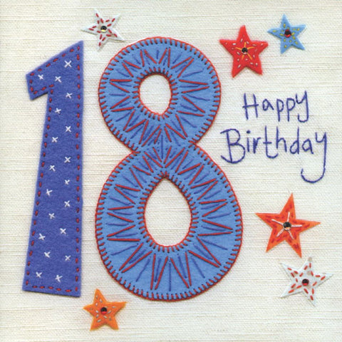 18th Birthday Vintage Greeting Card