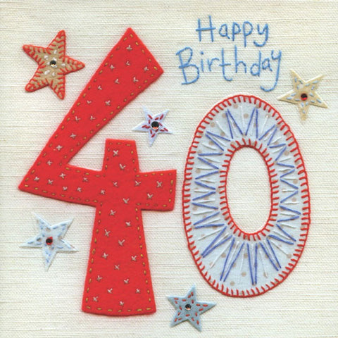 40th Birthday Stars Greeting Card