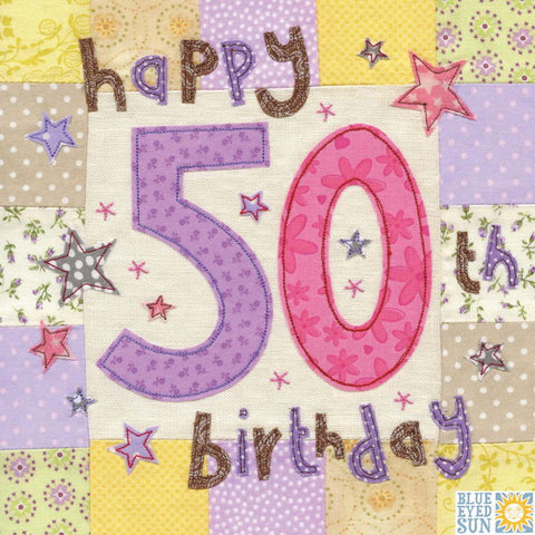 50th Stars Birthday Greeting Card