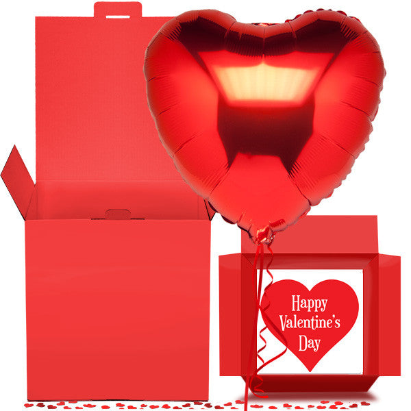 Valentine Heart Of Love Balloon In A Box Free 1st Class Delivery