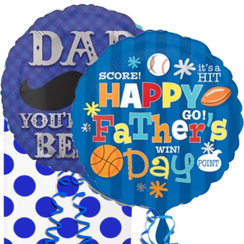 Happy Father's Day Sports Helium Balloon Duo in a Box