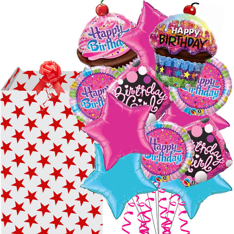 Mega Frosted Birthday Helium Balloon Bouquet