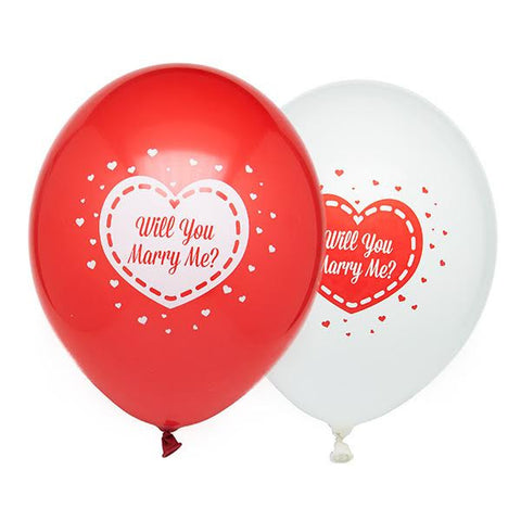 10 Will You Marry Me Latex Balloons