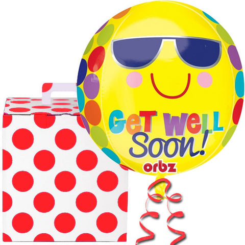 Get Well Soon Orbz Helium Balloon