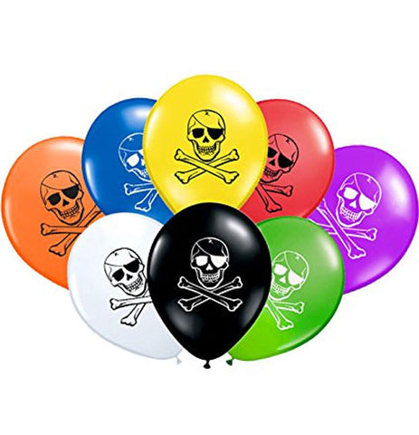 8 Pirate Party Balloons