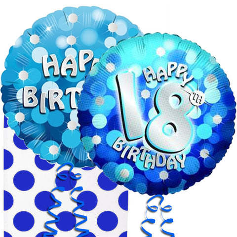 18th Birthday Sparkle Helium Balloon in a Box Duo