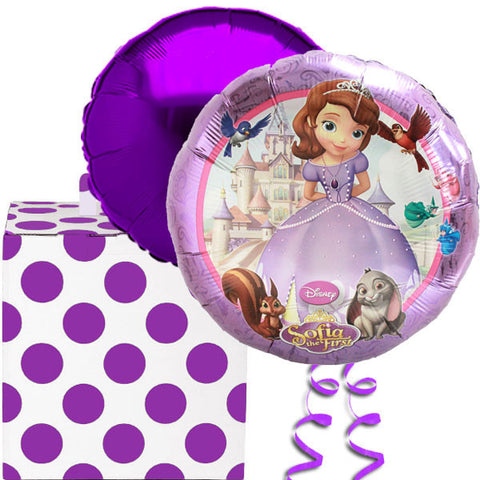 Sophia the First Foil Balloon in a Box Gift