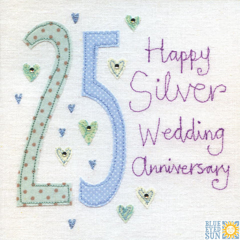 25 Years Vintage Wedding Anniversary Card